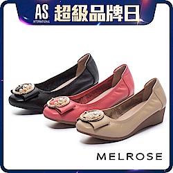 高跟鞋 MELROSE 珍珠金屬圓飾釦