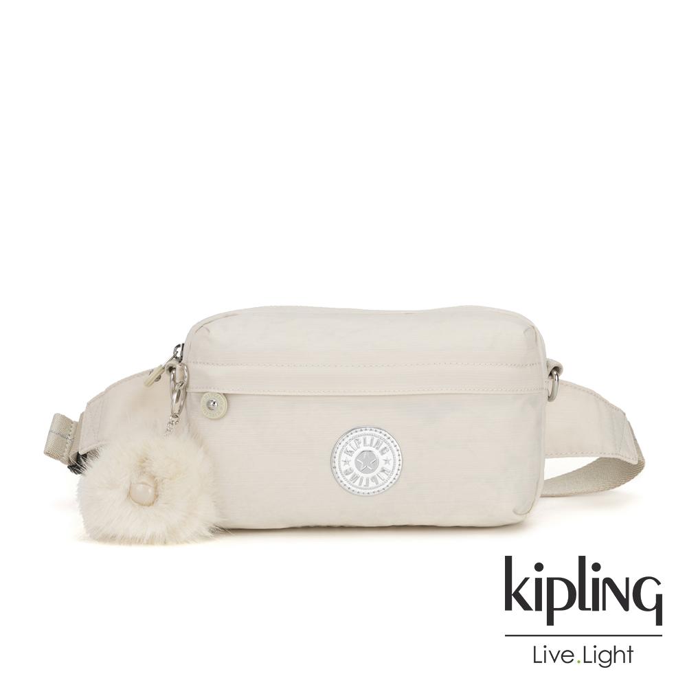 Kipling 優雅米白方形腰包-HALIMA