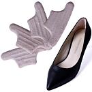 JHS杰恆社abe101矽膠跟鞋後跟帖半碼墊不跟腳防磨腳透明防滑防掉加厚皮鞋貼