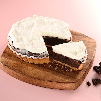 (滿7件)亞尼克 6吋派塔-奶霜厚巧克力