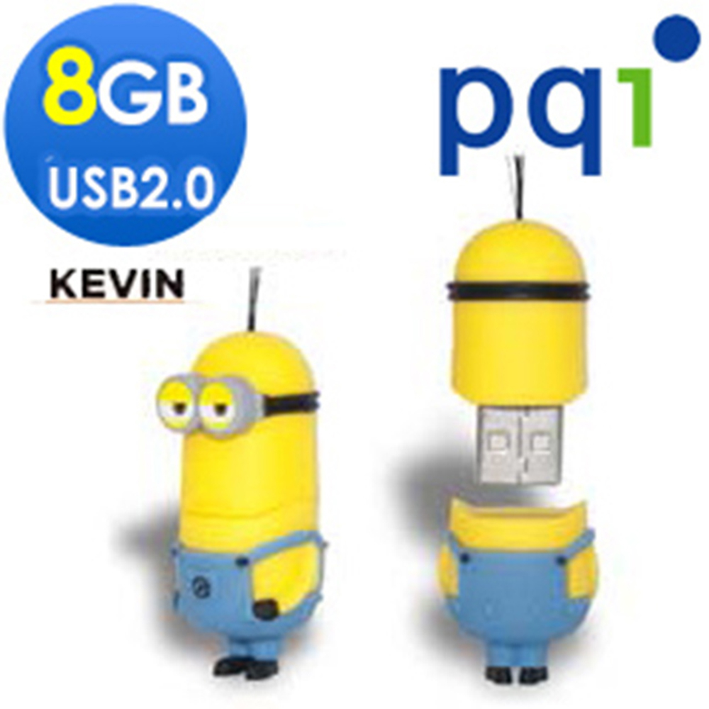 PQI神偷奶爸小小兵Kevin 8G造型隨身碟(福利品包裝盒有損)