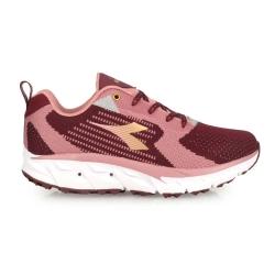 DIADORA 女戶外登山鞋-野趣 越野 慢跑 DA31618 深桃紅粉金