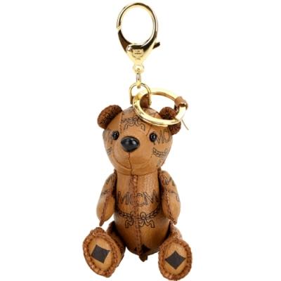 MCM Visetos Zoo Bear 小熊造型吊飾鑰匙圈(白蘭地色)