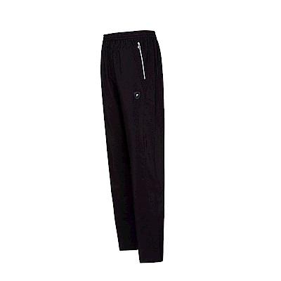 FILA 男風衣長褲-黑色 1PNT-1481-BK