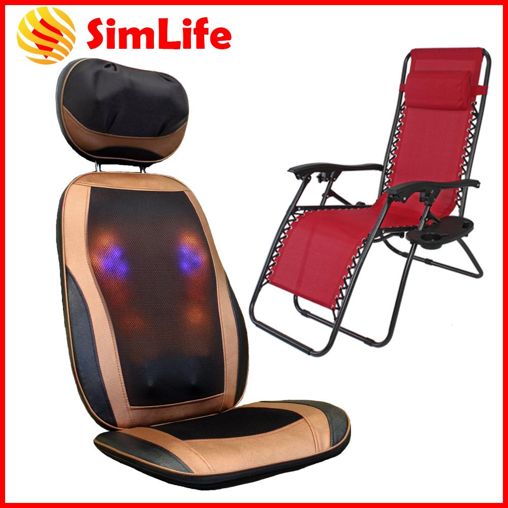 SimLife-全方位按摩椅墊休閒躺椅舒壓組