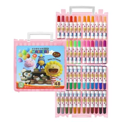 雄獅 奶油獅48色透明盒彩色筆BLM-48 - 粉紅