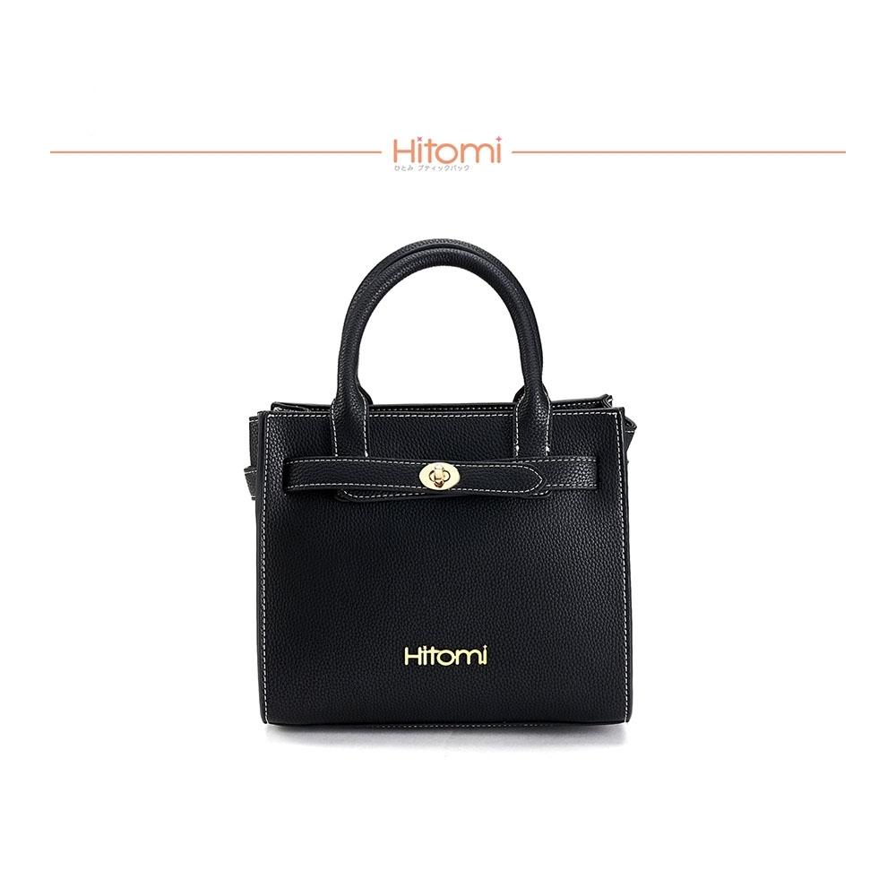 【Hitomi】造型扣方型小提包(經典黑23098BK)