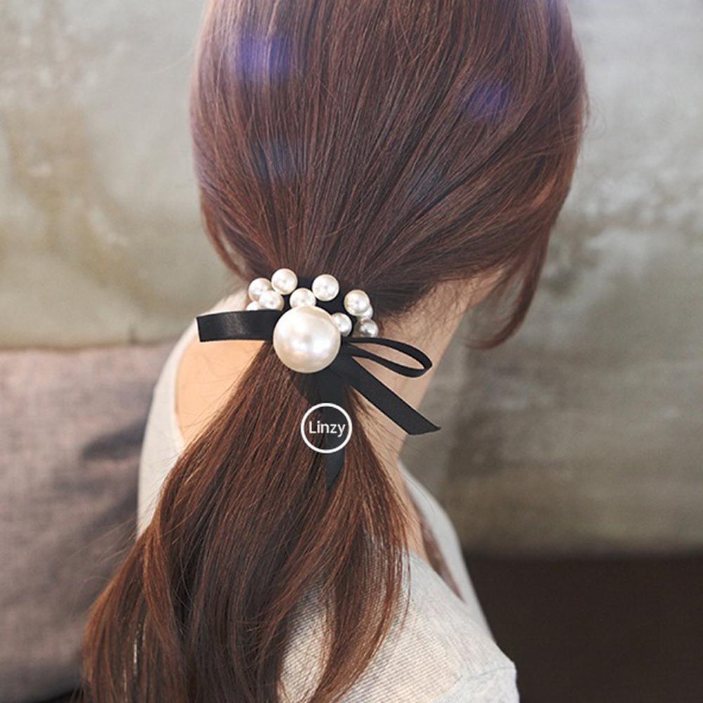 梨花HaNA 韓國溫柔質感小珍珠公主髮圈
