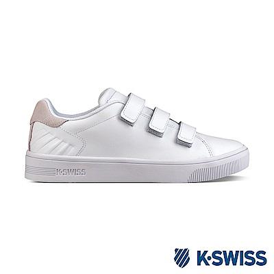 K-Swiss Court SC Strap休閒運動鞋-女-白/灰