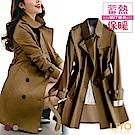 外套-LIYO理優-風衣MIT經典翻領英倫顯瘦刷毛保暖外套E848003