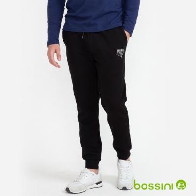 bossini男裝-束口針織棉褲01黑