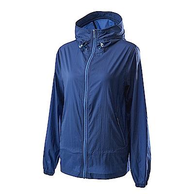 Wildland荒野女15D超輕低防水高透氣外套深藍色