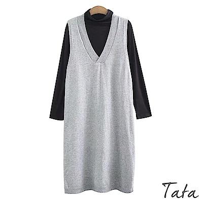 針織背心裙素面上衣套裝 共二色 TATA