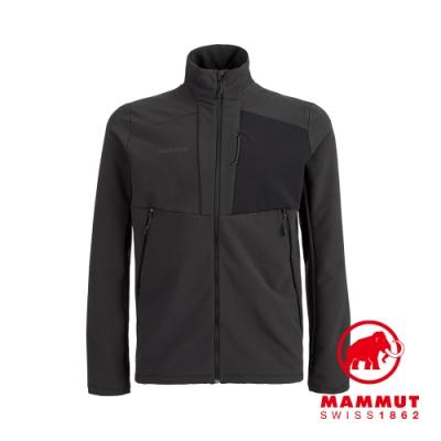 【Mammut 長毛象】Madris ML Jacket Men 刷毛立領外套 黑色 男款 #1014-02420