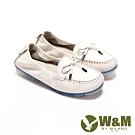 W&M 圓頭小蝴蝶莫卡辛鞋 樂福鞋 小白鞋女鞋-米白(另有桃紅)