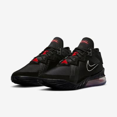 Nike 籃球鞋 Lebron XVIII Low 運動 男鞋 氣墊 舒適 避震 明星款 包覆 支撐 黑 紅 CV7564001