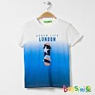 bossini男童-印花短袖T恤25灰白