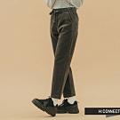 H:CONNECT 韓國品牌 女裝-腰鬆緊絨面直筒長褲-灰