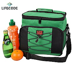 LIFECODE 歐風保冰袋/保溫袋/保冷袋(15L)-綠色