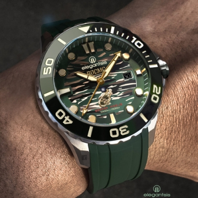 elegantsis 海軍陸戰隊2.0版限量款機械錶 套組 ELJX65AS-ROCMC 2.0