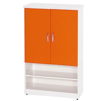 綠活居 阿爾斯環保2.8尺塑鋼二門二格鞋櫃(12色)-83x37x112cm免組