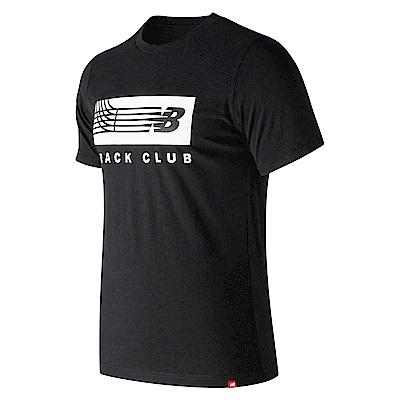 New Balance賽道圖案短袖T恤AMT91542BK_男_黑