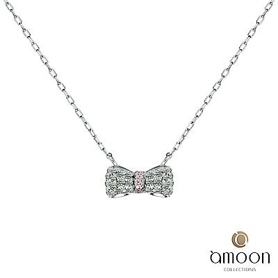 amoon 永恆回憶系列 蝶夢 鉑金鑽石項鍊