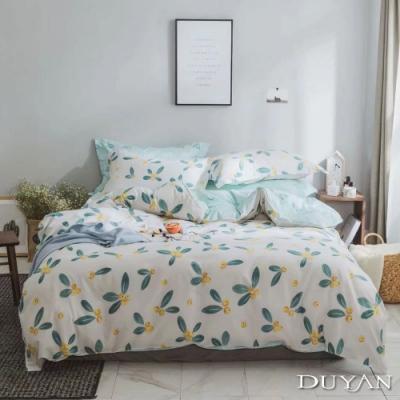 DUYAN竹漾-100%精梳棉/200織-單人床包被套三件組-恬靜水芙 台灣製