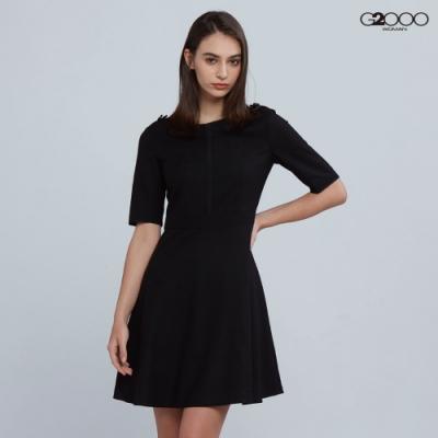 G2000時尚素面洋裝-黑色