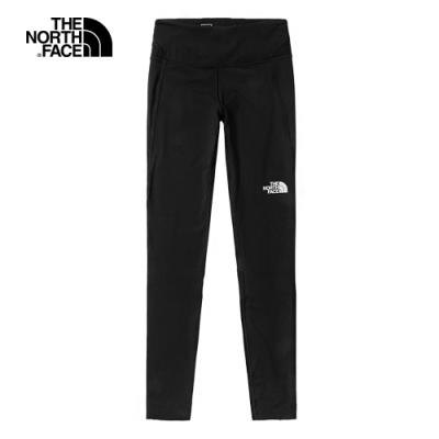 The North Face北面女款黑色吸濕排汗高腰緊身褲|539DJK3