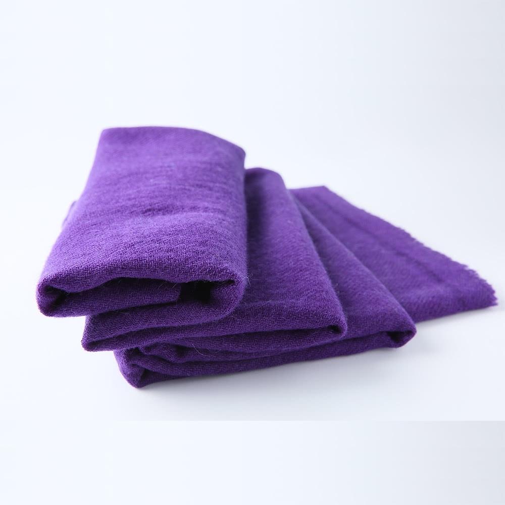 【F.M&Carol】曦心系列- 100%純喀什米爾厚款羊絨披肩(紫藤色)