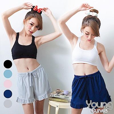 Young Curves 排汗高彈力羅紋短褲-2入組(C05100038)