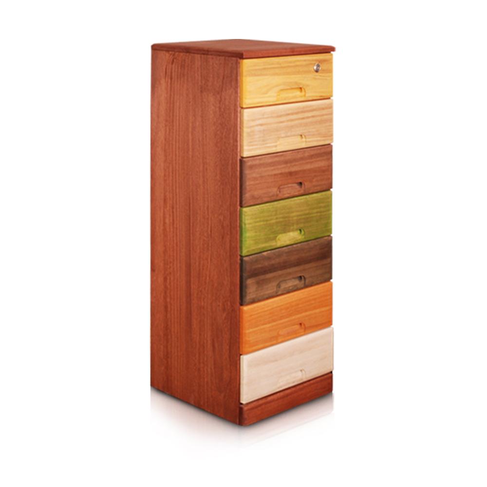 桐趣-木。工房7抽實木收納櫃