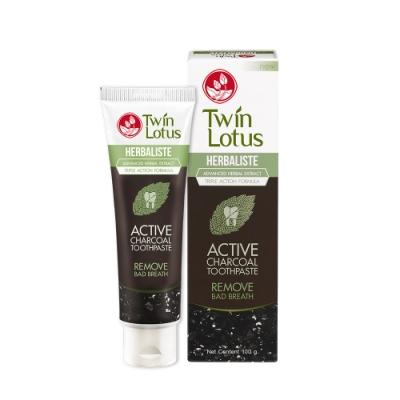 Twin Lotus雙蓮 皇室草本活性碳亮白牙膏25g