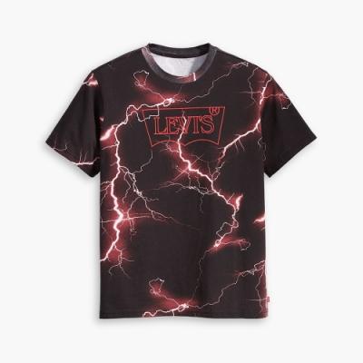 Levis X 怪奇物語限量聯名 男女同款 短袖T恤 復古描框Logo