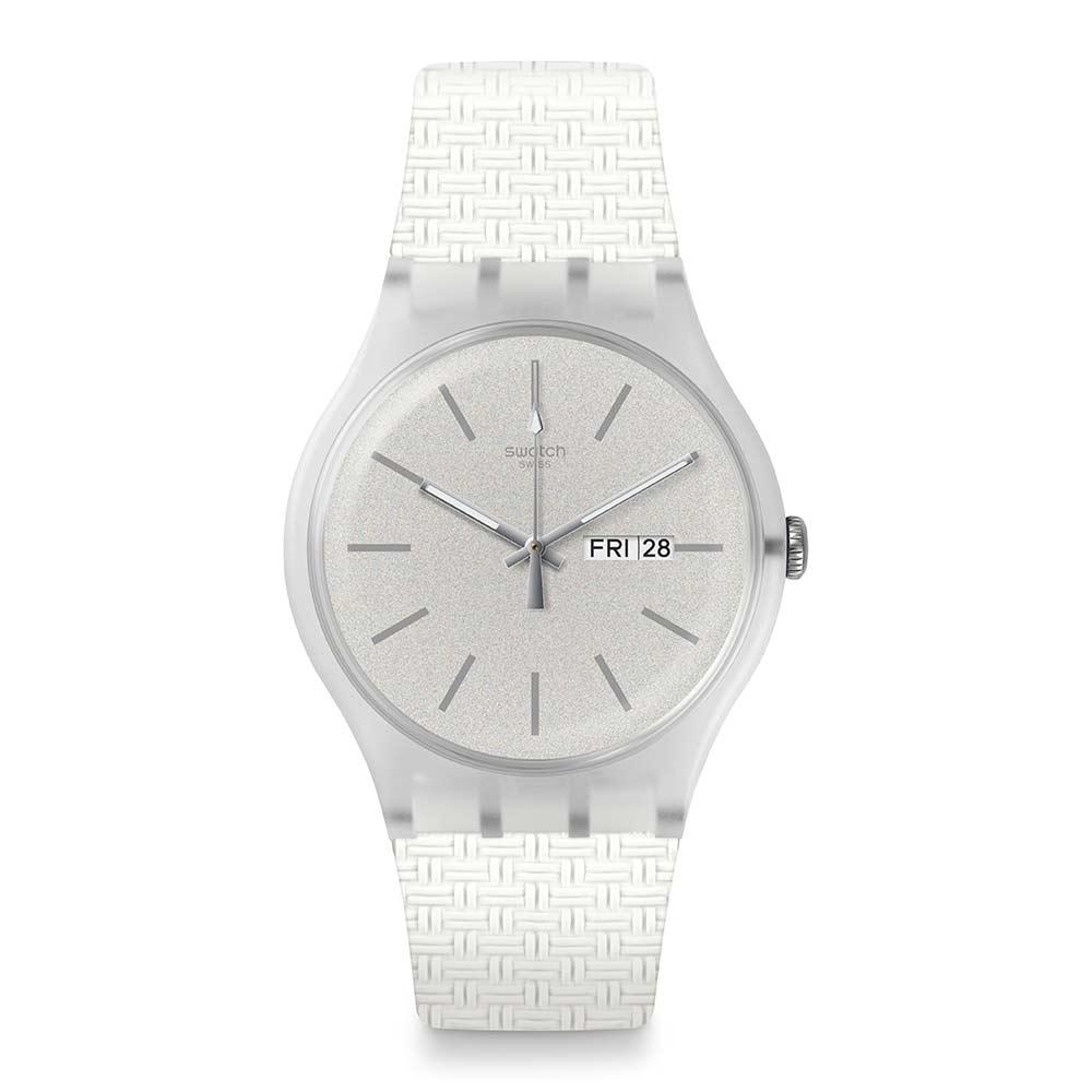 Swatch Bau 包浩斯系列手錶 BRICABLANC 結構白 -41mm