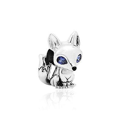 Pandora 潘朵拉 藍眼睛狐狸 純銀墜飾 串珠