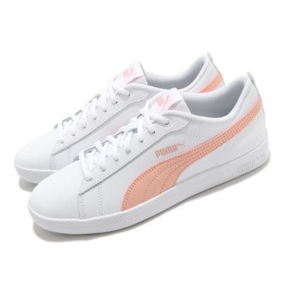 Puma 休閒鞋 Smash 低筒 運動 女鞋 基本款 簡約 舒適 穿搭 球鞋 白 粉 36520826