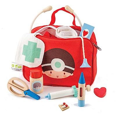 Tender Leaf Toys木製家家酒玩具-妙手回春診療包 醫生玩具包