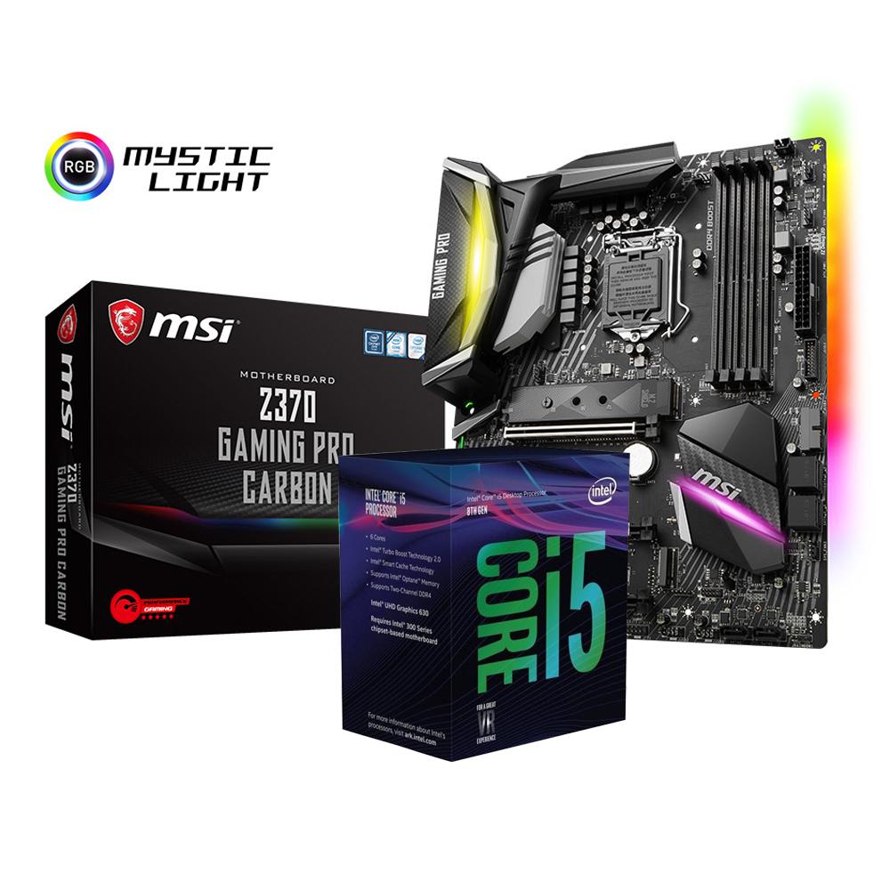 微星 Z370 GAMING PRO CARBON+Intel i5-8400超值組合