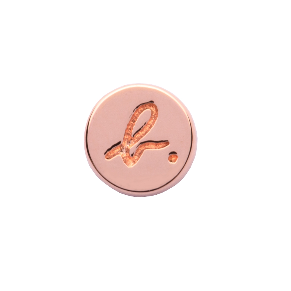 agnes b. 簡約針式耳環(玫瑰金/1支)