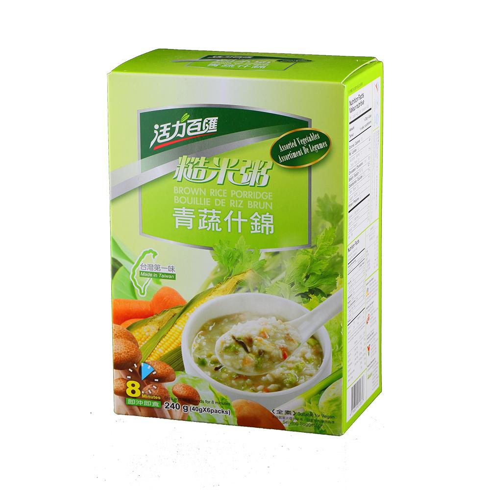 活力百匯 青蔬什錦糙米粥(40gx6入)