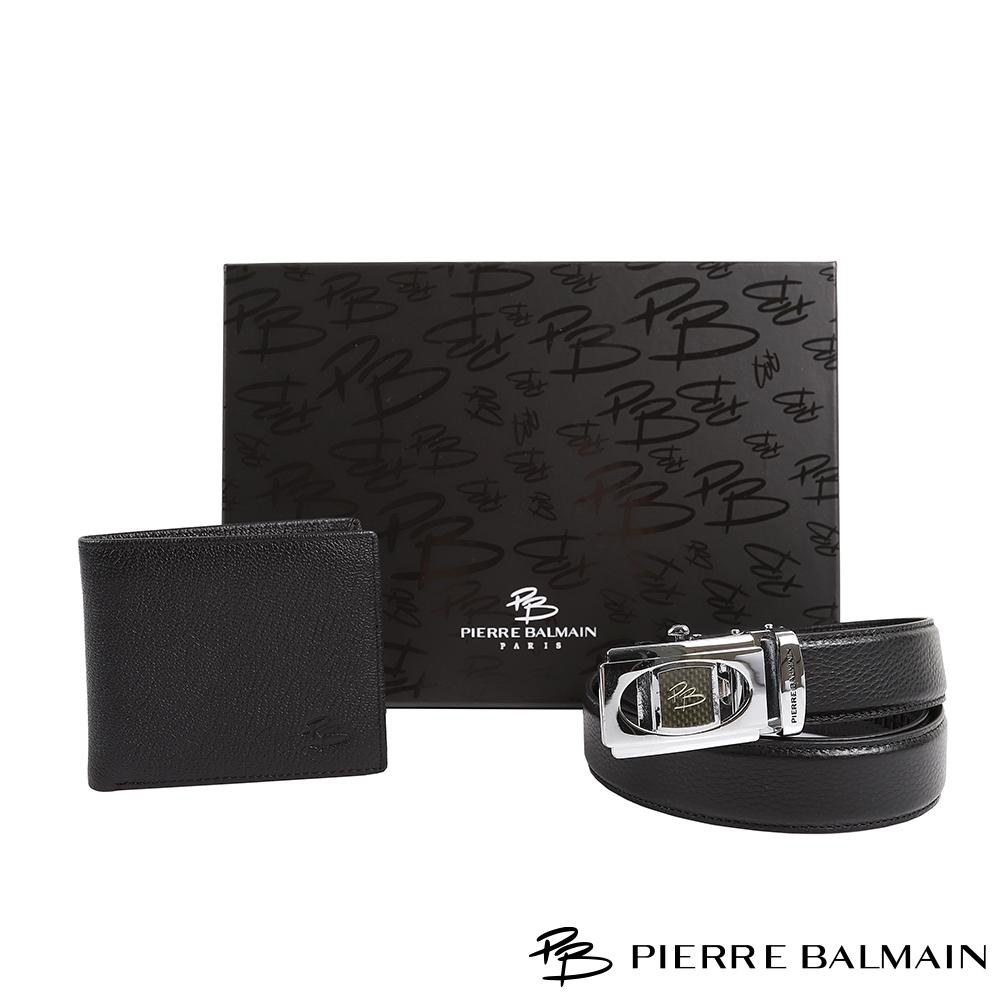 【PB 皮爾帕門】頭層牛皮皮帶皮夾組(父親節禮盒)