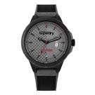 Superdry極度乾燥  街頭潮流日期運動腕錶-黑X灰(SYG245EB)/45mm