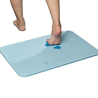 樂嫚妮 珪藻土吸水速乾地墊/腳踏墊/浴墊-60X39cm-藍-通過台灣SGS未含石綿檢測