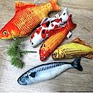 dyy》仿真超市魚市場薄荷貓咪玩具鯉魚|草魚|鯖魚小20cm