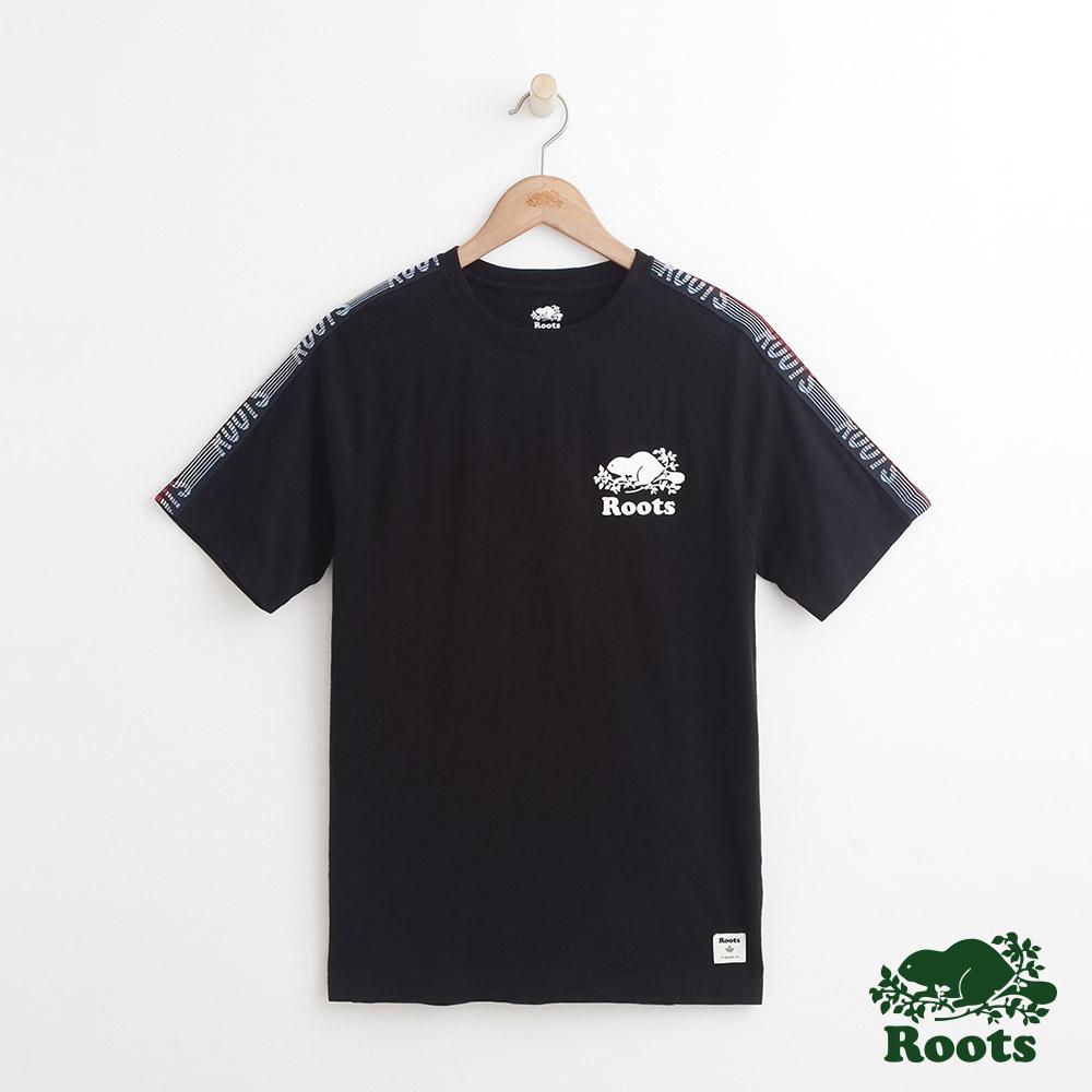 男裝-Roots 法蘭克短袖T恤-黑