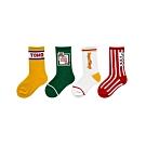 Baby童衣 四雙一組 運動字母中筒襪 兒童襪子 88264(共四款)
