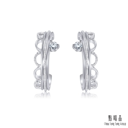 Daily Luxe 鉑金鑽石耳環