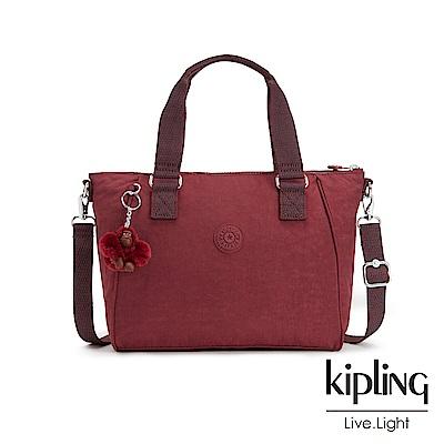 Kipling高雅酒紅手提側背包